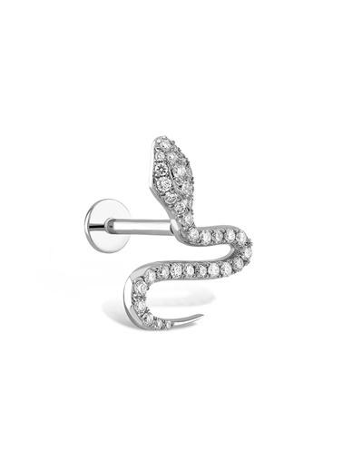 Piano Jewellery Yılan Pırlanta Piercing 14 Ayar Gümüş